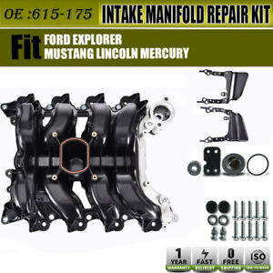Intake Manifold W Thermostat Gaskets Kit New For Ford Lincoln Mercury 4 6l V8 Us