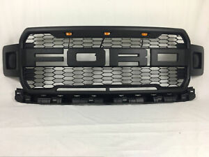 Fit For 2018 2019 Ford F 150 Sport Matte Black Raptor Style Conversion Grille