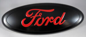 2004 2016 Ford F 150 F 250 Black Oval Red Logo 9 X 3 5 Emblem Grille Tailgate