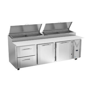 Victory Vppd93hc 2 93 Pizza Prep Table Refrigerated Counter