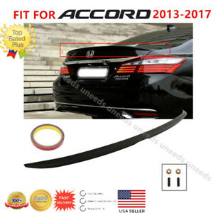 Fit For 2013 2017 Honda Accord 4dr Matte Black Oe Factory Style Spoiler Wing