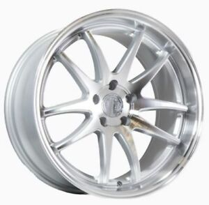 Aodhan Ds02 19x9 5 19x11 15 5x114 3 Silver Is250 Genesis G35 Coupe G37 350z