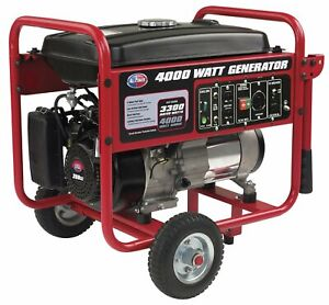 All Power 4000 Watt Portable Generator Gas Powered W Electric Start Epa carb