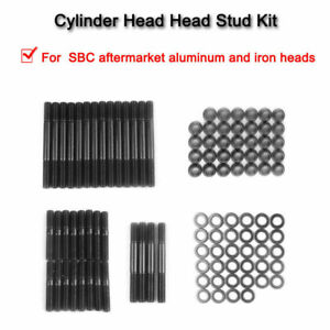 Sbc Head Stud Kit For Alum Or Iron Heads Sbc Head Studs 1525 stud 279 1001 Bk