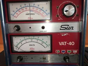 Vintage Automotive Shop Equipment Sun Test Equipment Vat 40