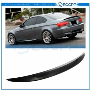 Abs Black For 07 13 Bmw E92 Coupe 328i 335i M3 High Kick Trunk Spoiler Wing