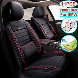 Car Seat Cover Set Pu Leather Car Accessories Fit For Bmw X5 X3 X6 X1 328i 335i
