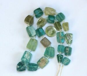 Ancient Roman Glass Old Square Beads 18 Th Century Necklace 18 Pcs Random Mixed