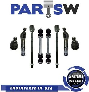 New Tie Rod End Ball Joint Sway Bar Link Suspension Set Kit For Ford M