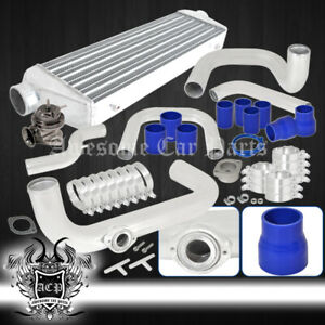 For 96 00 Civic 65mm Universal Piping Kit Custom Race Intercooler Billet Bov