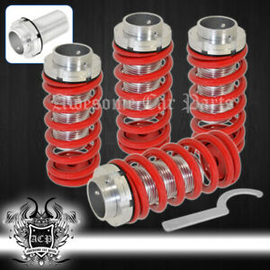 Adjustable Lower Coilovers Springs Red For Integra Crx Accord Prelude Civic
