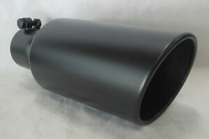 3 Inlet 5 Outlet 12 L Diesel Exhaust Tip Ford Chevy Dodge flat Black