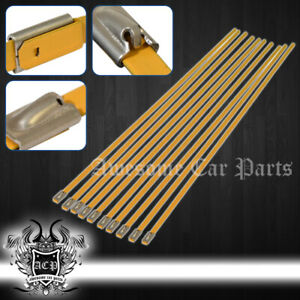 12 10pcs Stainless Cable Zip Tie Straps Or Heat Wrap Catback Exhaust Muffler