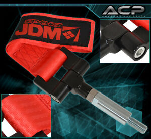 Jdm Sport 4000lbs Screw On Tow Hook Strap Adapter For 17 18 Civic Hatchback Red