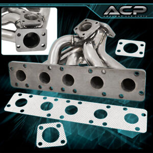 For Audi 20v S2 S4 Rs2 2 2l L5 K26 Stock Turbo Flange Exhaust Manifold Stainless