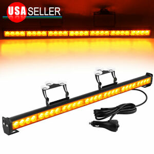 Amber white 31 28led Emergency Warning Flash Strobe Light Bar Universal Vehicle