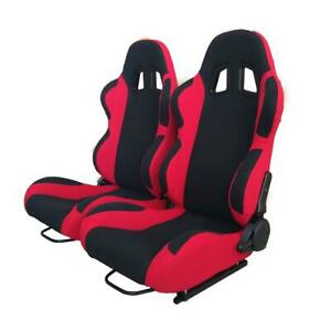 High Quality Black Red Double Slide Racing Seats Universal Left Right