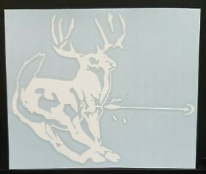 Deer Sticker Decal Bow Hunting Archery Truck car 6x5 Inch Arrow Thru Buck 32