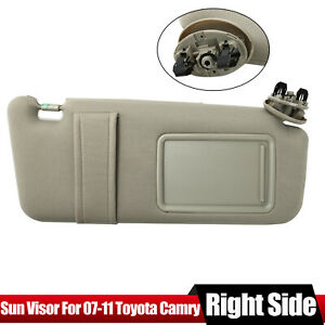Sun Visor Right Passenger Tan Beige For 2007 2011 Toyota Camry Without Sunroof