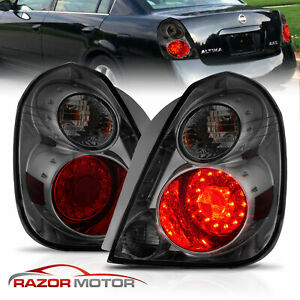For 2002 2003 2004 2005 2006 Nissan Altima Smoke Lens Led Rear Tail Lights Pair