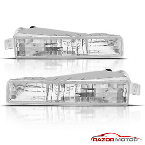 For 1997 1998 1999 2000 2001 Honda Prelude Euro Clear Bumper Signal Lights Pair
