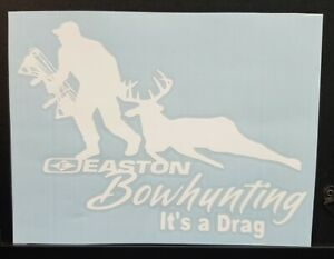 Deer Hunting Sticker Decal Easton Bowhunting Truck Car 7x5 Inch