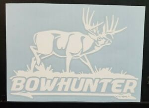 Deer Hunting Sticker Decal Bowhunting Buck Truck car 7x5 Inch 24