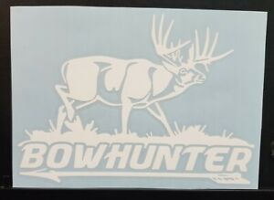 Deer Hunting Sticker Decal Bowhunting Buck Truck car 7x5 Inch