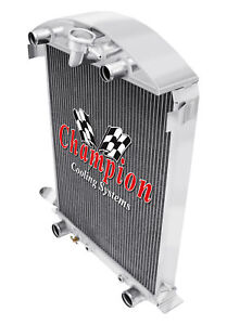 3 Row Ar Champion Radiator For 1930 1931 Ford Model A Flathead Conversion