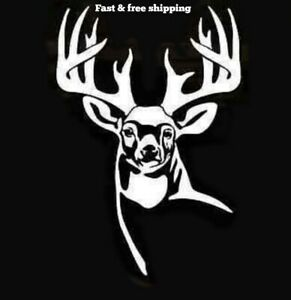 Whitetail Deer Buck Decal Hunting Truck Window Vinyl Sticker Pick Size