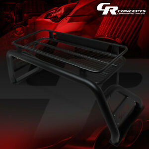 Heavy Duty Truck Bed Aluminum Roll Bar W Cargo Basket For 07 18 Silverado Sierra