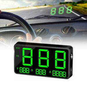 Universal Car Gps Speedometer Head Up Display Mph km h Overspeed Alarm