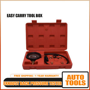 Easy Readout Exhaust Back Pressure Tester Set Car Kit Test Tool With Box Hq C4