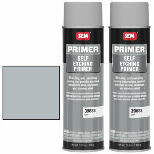 Sem 39683 Gray Self Etching Primer Aerosol 2 Pack