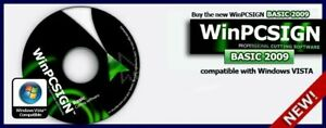New Winpcsign 2012 Basic Software For Vinyl Cutting Plotter Dongle Windows