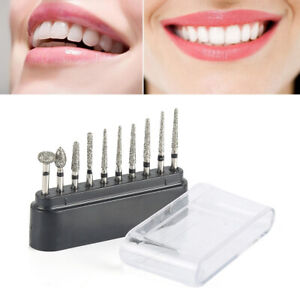 Diamond Burs Drill Composite Polishing Kit F For Dental High Speed Handpiece Us