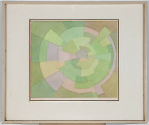 Mid Century Modern Painting Watercolor Original Art Abstract D Archer Signed