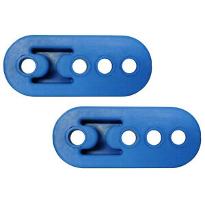 2pcs Exhaust Hanger Rubber Insulator Bracket Bushing Mount 4 Hole Universal Blue
