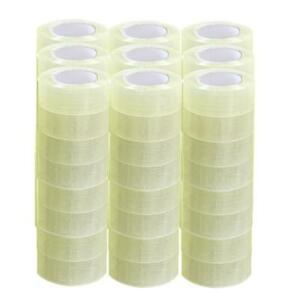 72 Rolls 2 Mil 330ft 1 9 X 110 Yards Clear Carton Sealing Packing Package Tape