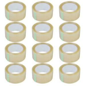 12 Rolls 2 7 Mil 180 Ft 60 Yards Heavy Duty Carton Sealing Packing Shipping Tape
