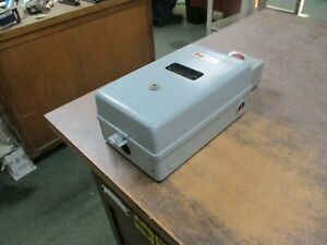 Furnas Enclosed Size 1 Starter 14dsf32bca1g21 27a 600v 13 27a Trip Used