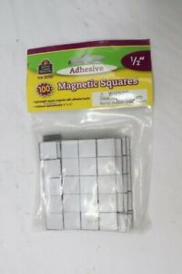Qty 4 Tcr 20720 Adhesive Magnetic Squares 1 2 Pack Of 100