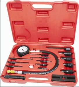 Pro 17pc Diesel Engine Cylinder Compression Test Tester Kit Gauge Us Ship