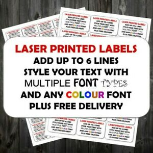 Personalised Sticky Return Address Labels Mini Or Large Add Text Colour P