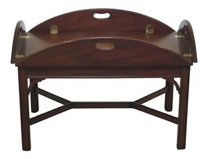 47935ec Henkel Harris Chippendale Mahogany Butler Coffee Table