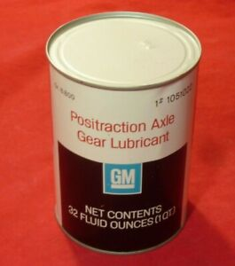 Nos Gm Positraction Axle Gear Lubricant 1 Quart Camaro Corvette 442 Gto Chevelle