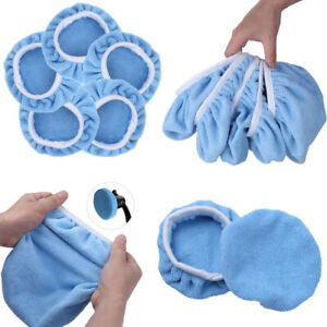 Us 5 Auto Car Wax Polisher Pads Microfiber Polishing Bonnet Waxing Buffing Cover