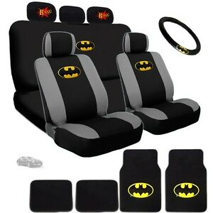 For Bmw Ultimate Batman Seat Steering Mats Classic Bam Headrest Covers Set