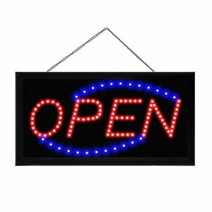 Boshen Animated Motion Led Business Open Sign Bright Light Neon on off Switch