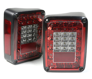 Omix Tail Light Kit Led Smoke For 07 18 Jeep Wrangler Jk 12403 88